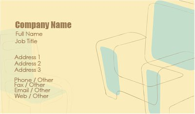Yellow Furniture Business Card Template